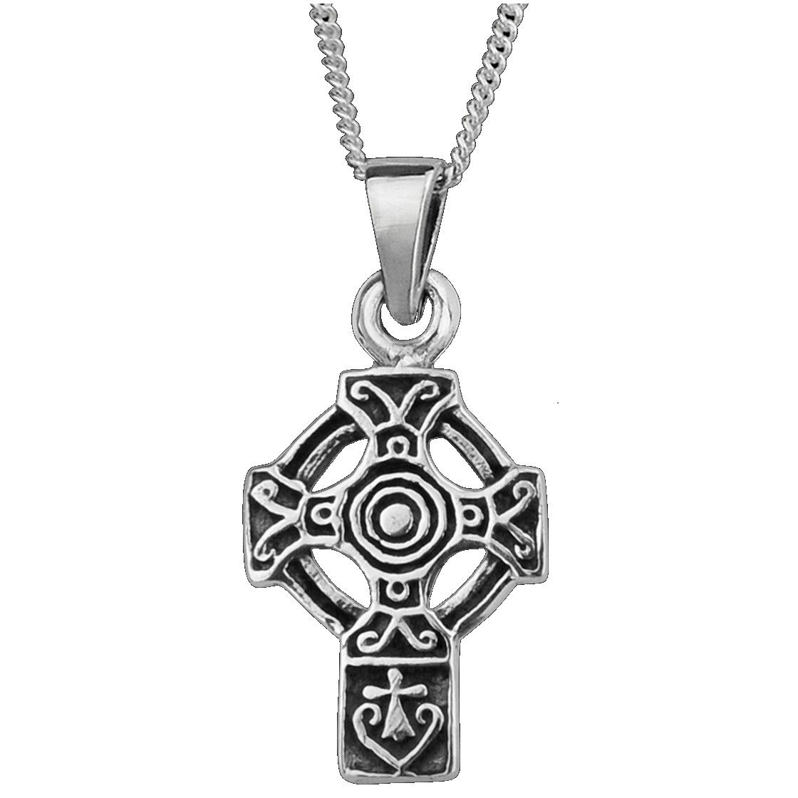 Celtic Cross Silver Pendant Small 0065