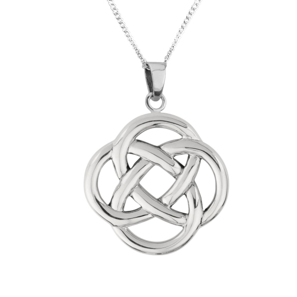 img round trinity silver products sterling pendant celtic