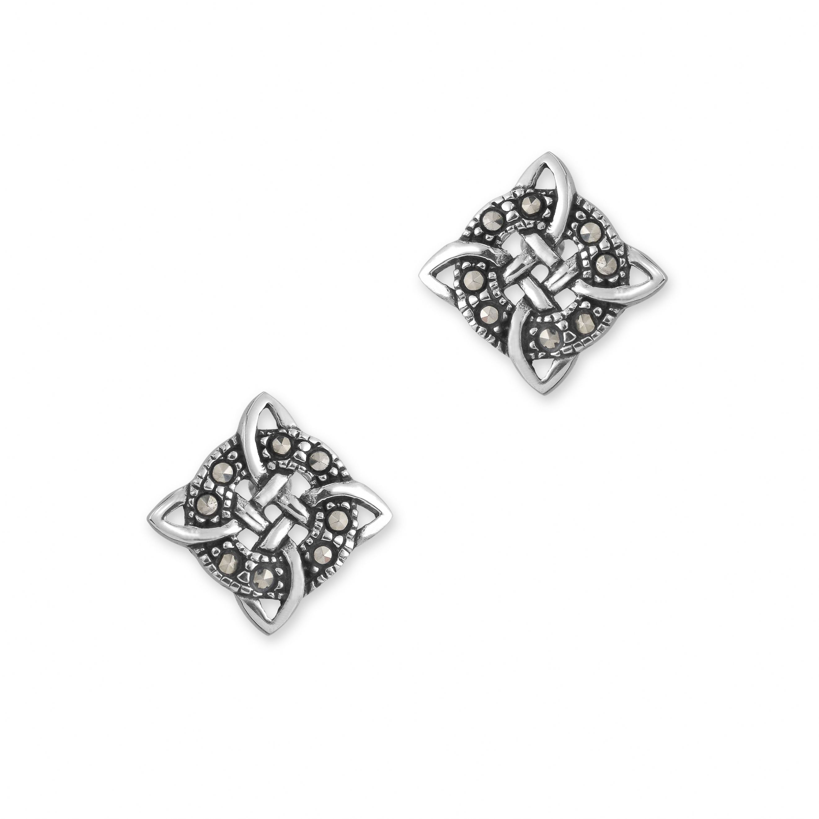 round tracy stud symmetrical designs product silver celtic gilbert earrings knot