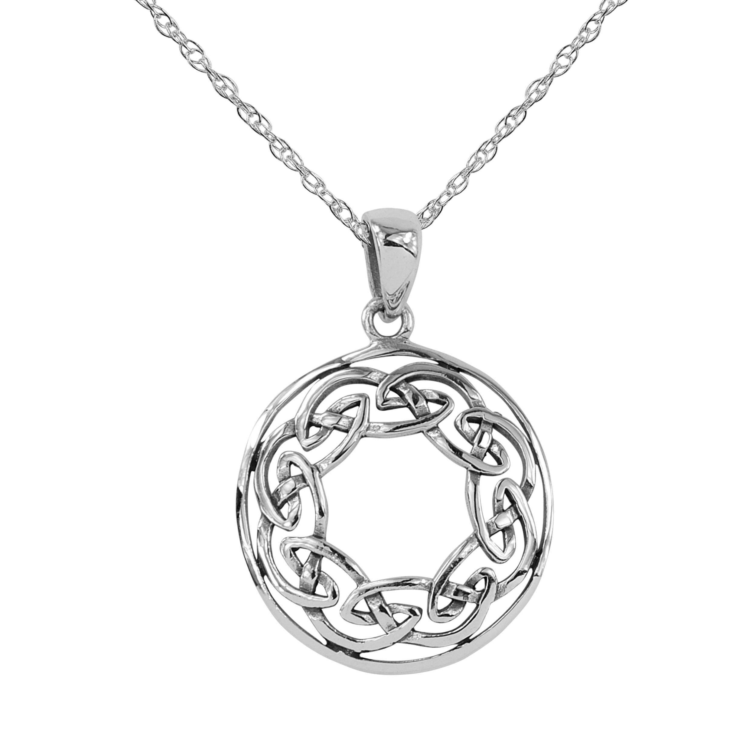 small sterling diamond pendant fullscreen silver round jewelry rene lyst view necklace escobar