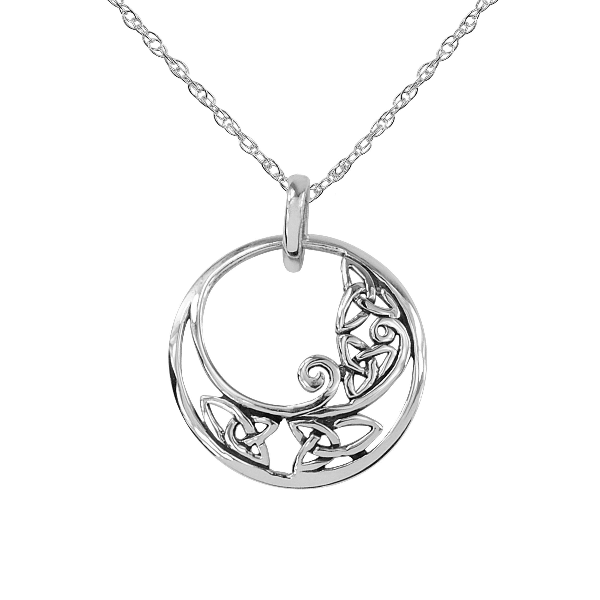 flower jewelry cotton jnt pewter ebay itm silver celtic pendant necklace charm design