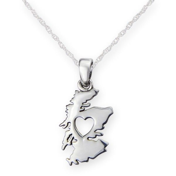 From the heart of scotland silver plated pendant 9975 aloadofball Choice Image