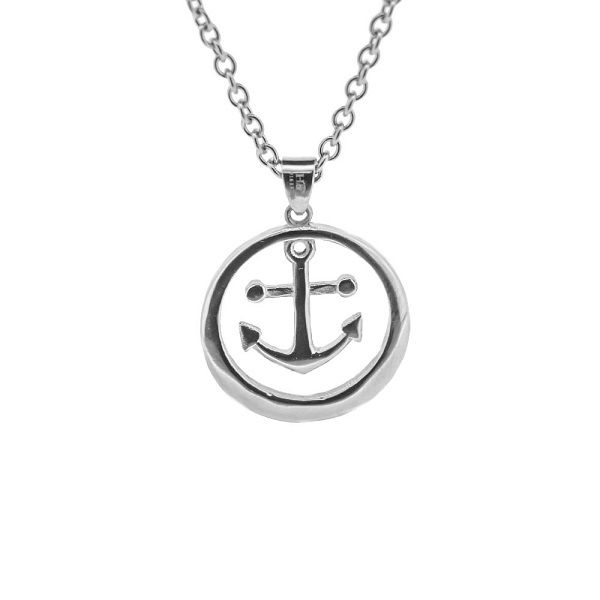 Outlander inspired anchor stainless steel pendant 1063 mozeypictures Gallery