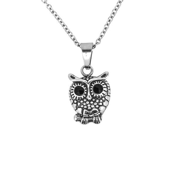 Owl stainless steel pendant 1068 mozeypictures Gallery