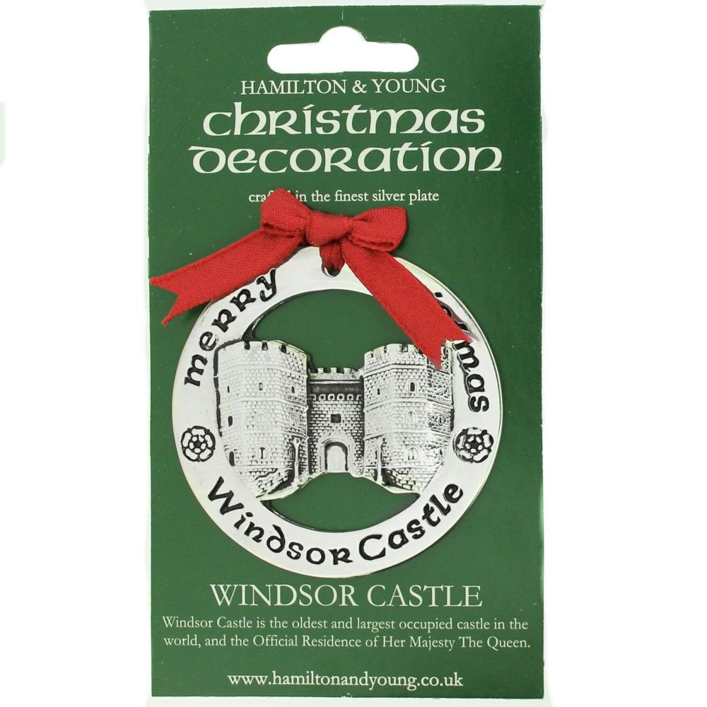 silver plated christmas decoration windsor castle 0966