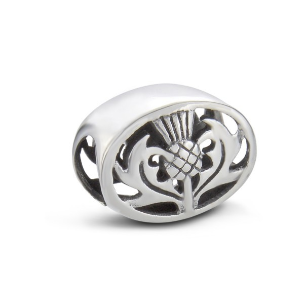 Scottish Thistle Silver Keepsake Bead Charm 9624